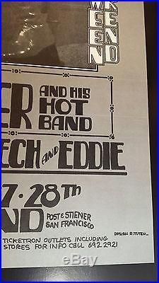 David Bowie original concert poster 1972 winterland Halloween weekend