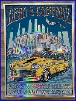 Dead And Company Foil Concert Poster 2017 MSG NY Signed By Artist Mike DuBois