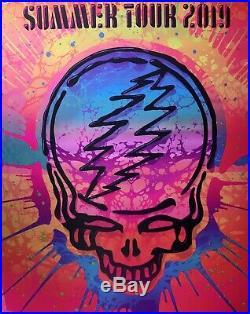 Dead & company poster 2019 concert tour grateful dead art neon 1341/1400 k arens