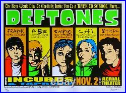 Deftones Poster with Incubus & Taproot 2000 Concert RARE S/N by Jermaine