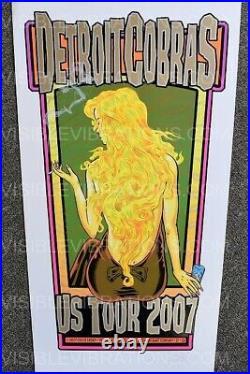 Detroit Cobras Concert Poster Chuck Sperry S/N U. S. Tour 2007