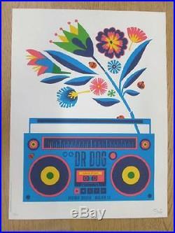 Dr Dog Boulder 2014 Dan Stiles Concert Poster Silkscreen Original