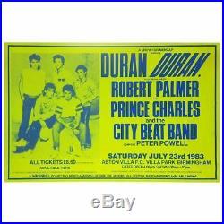 Duran Duran 1983 Aston Villa FC Concert Poster (UK)