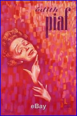 Edith Piaf Affiche De Concert