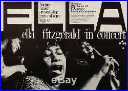 ELLA FITZGERALD 1967 German A1 concert poster Vintage GUNTHER KIESER Art