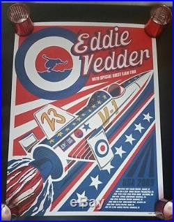 Eddie Vedder 2009 Concert Rocket Poster Klausen Pearl Jam