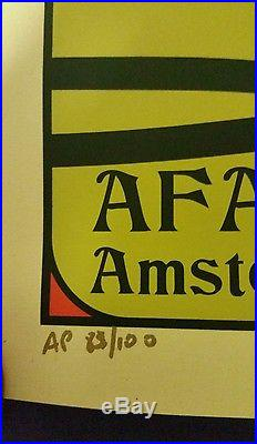 Eddie Vedder Amsterdam 2017 Concert Poster Ap 83/100. Signed By Ian Williams