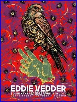 Eddie Vedder Concert Poster 6/19/17 Antwerp Belgium Purple Variant Pearl Jam PJ