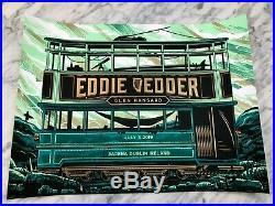 Eddie Vedder Dublin Ireland Concert Print Poster 2019 by Travis Price Pearl Jam