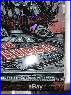 Eric Church Double Down Tour Kansas City Concert Poster Foil Set Munk One # 7/22