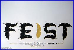 FEIST- ORIGINAL Signed/Numbered 2005 CONCERT POSTER by Jason Munn