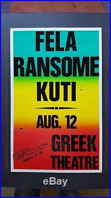 FELA RANSOME KUTI Original Promo Concert Poster 1989 Afrobeat Nigeria AFRICA 70