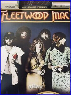 FLEETWOOD MAC 1977 OAKLAND concert poster BILL GRAHAM Vintage Stevie Nicks