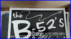 FRANK KOZIK B-52'S after show POSTER AUSTIN TX 14 DEC 1989 RARE