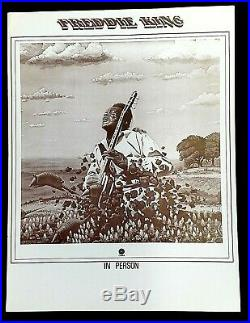 FREDDIE KING CONCERT POSTER Tour Blank circa 1978
