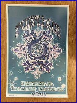 Furthur Grateful Dead Broomfield 2011 Original Concert Poster Silkscreen Dubois