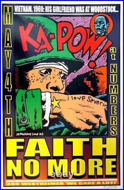 Faith No More Concert Poster 1998 Jermaine Rogers Houston