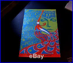 Fillmore Bill Graham BG-75 The Doors/ Yardbirds Vintage 1967 Concert Poster NM