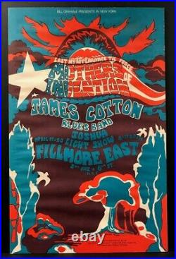 Fillmore East 1968 Concert Poster Frank Zappa Mothers of Invention James Cotton