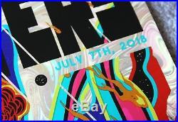 Foo Fighters Foil Concert Poster July 7 2018 Camden NJ BB&T Pavilion, Space Man