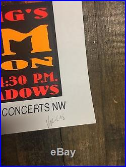 Frank Kozik 1993 Neil Young + Pearl Jam Concert Poster Kz9335 High Bear