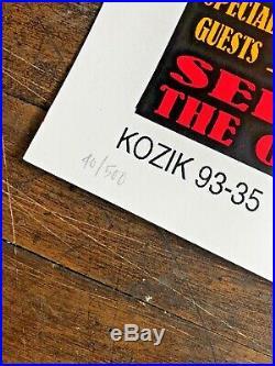 Frank Kozik 1993 Pearl Jam Neil Young Concert Poster High Bear S/N Print