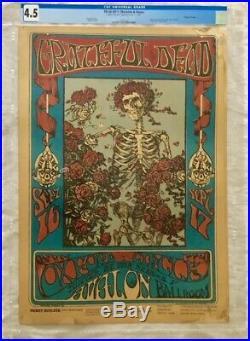 GRATEFUL DEAD FD26-OP-1 Skeleton Roses Original 1st Print Concert Poster AOR BG