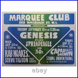 Genesis 1972 London Marquee Club Concert Poster (UK)
