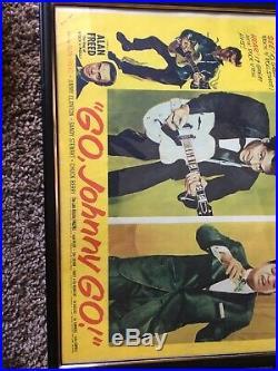 Go Johnny Go! Chuck Berry, Jackie Wilson, Alan Freed, Concert Poster Original