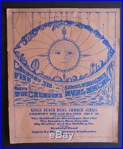 Grateful Dead 1967 concert poster BG, FD, AOR