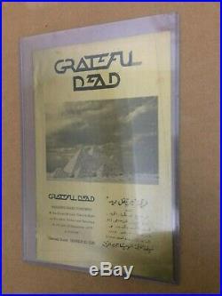 Grateful Dead 1978 Egypt Concert Program 100% Authentic Extremely Rare Gold Foil