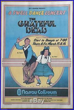 Grateful Dead A Swell Dance by David Byrd Vintage 1973 Concert Poster