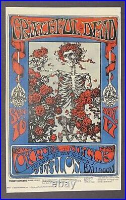 Grateful Dead FD26-2 Avalon Ballroom Skeleton & Roses Rock Concert Test Poster