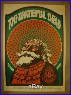 Grateful Dead Original Concert Poster 1966 Fd 40 Avalon Ballroom