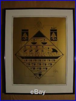 Grateful Dead Original Concert Poster 1978 Egypt Stanley Mouse 348/350 Framed