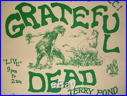 Grateful Dead THE MATRIX 1966 Concert Poster Ships Free