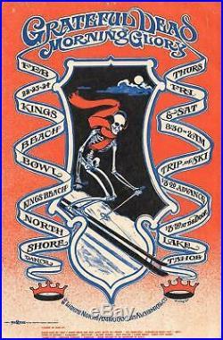 Grateful Dead Trip and Ski Lake Tahoe, Ca Original Concert Handbill 1968 AOR