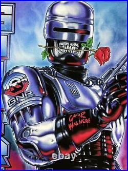 Guns N Roses Detroit Robocop Concert Poster Comerica Park 2021 224/250 Axl Rose