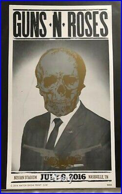 Guns N' Roses Hatch Show Print Concert Poster @ Nissan Stadium Nashville TN 2016