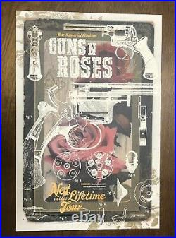 Guns N' Roses Not In This Lifetime Tour 2017 Concert Lithograph Poster Rare 300