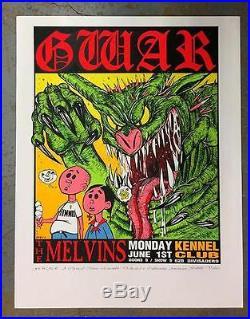 Gwar Melvins San Francisco 1992 Concert Poster Original Silkscreen Kozik