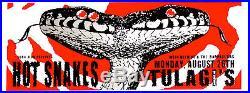 HOT SNAKES, Orig. Concert Poster S/N Lindsey Kuhn, Beehive, Two Headed, Mutant