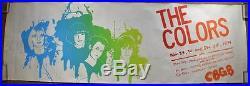 HUGE 52x17 1979 The Colors CBGB Original Silkscreened Concert Poster New Wave