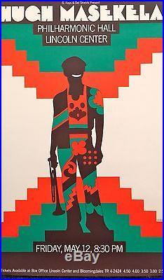 HUGH MASEKELA concert poster 1967 by MILTON GLASER