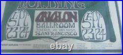 Howlin' Wolf 1966 Concert Poster MOUSE Avalon Ballroom OP2 1st print FRAMED