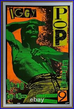 IGGY POP ALICE IN CHAINS Hollywood Palladium 1990 CONCERT POSTER Signed KOZIK