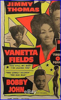 Ike & Tina Turner Revue Original 1964 Boxing Style Concert Poster