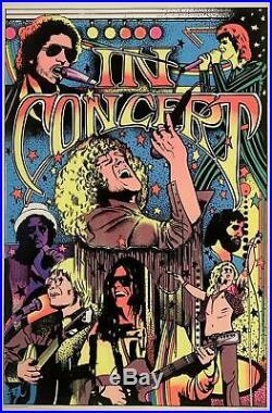 In Concert 1976 Original Black Light Poster 23 x 35