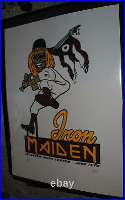Iron Maiden Cleveland 2008 concert poster #/66 rare Eddie the Head art print