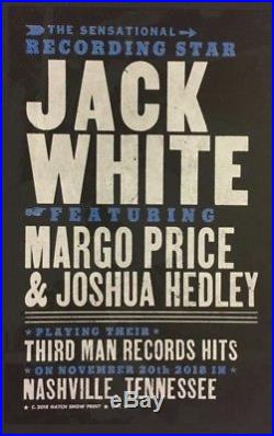 JACK WHITE HATCH SHOW PRINT Concert Poster Nashville 2018 Margo Price Third Man